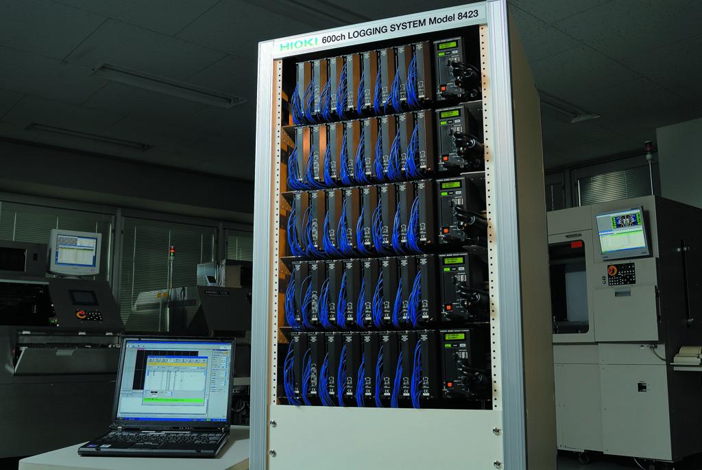 600 каналов записи на атомной станции HIOKI 8423